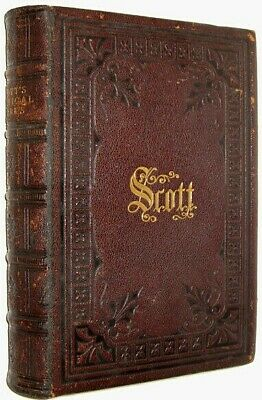 LEATHER Works;SIR WALTER SCOTT!Poetry Waverly(GORGEOUS FULL TOOLED BINDING!)GIFT