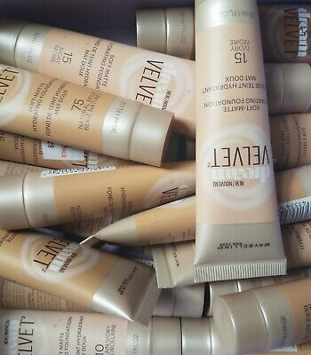 Lot of 17 Maybelline Dream Velvet Soft Matte Hydrating Foundation Mixed Colors