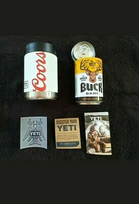 Yeti Coors Light Rambler Colster Vacuum Sealed 12 Oz Beer Can Koozie Brand New!