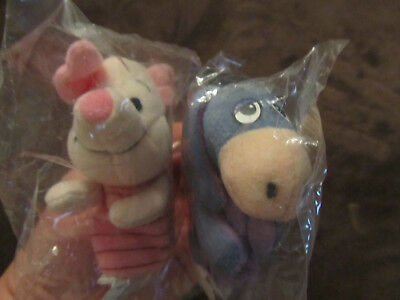 Disney Winnie the Pooh Piglet and Eeyore Plush Finger Puppets