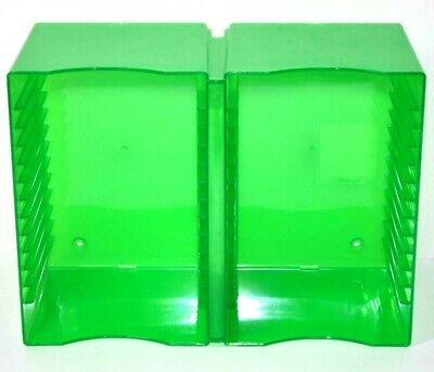 CD Rack Plastic Storage Jewel Case Green Wall Mountable Tray Media Case Logic 30