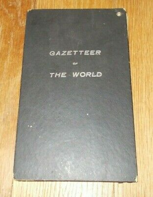 """""""Gazetteer Of The World""""  *1909*  Color Fold Outs   (The Bullard Co.)"""