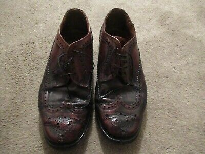 Mens vintage leather upper brogues-skinhead-mod made in England size 9