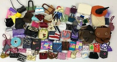 Lot Of Vintage To Now Barbie Doll Purses Handbags Totes Backpacks Accessories