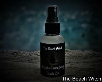 BLACK CAT Potion Spray Anointing Oil Ritual Spray Spells~Wicca Witchcraft Pagan