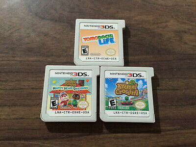 Animal Crossing: New Leaf + Happy Home Designer + Tomodachi Life (Nintendo 3DS)