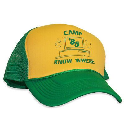 6dc21b330623d CAMP KNOW WHERE Stranger Things Dustin Trucker Hat - $14.95 | PicClick