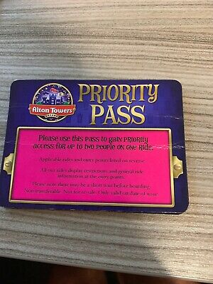 Alton Towers Priority Pass - Save Hours Go Front Of Queue, Stress free.