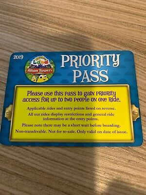 Alton Towers CBeebies Priority Pass - Save Hours Go Front Of Queue, Stress free.