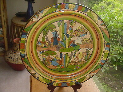 Huge Important Vintage Mexican Folk Art Charger Plate