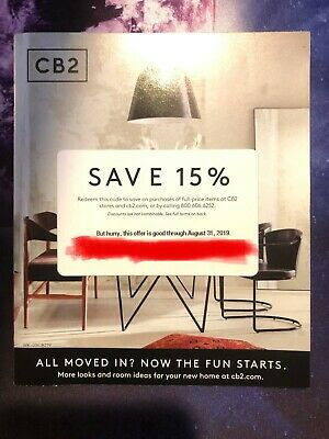 CB2 coupon 15% off online or instore coupon exp 8/31/2019