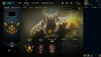 +++ League of Legends Account: ALLE Champions, 155 Skins, Gold IV +++