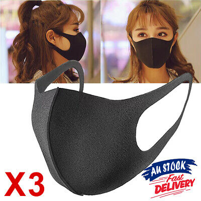 1/3Pcs Mouth Face Mask Mask Washable Earloop Anti Dust Respirator Cycling
