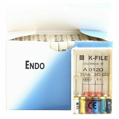 10 Packs Dental K-FILE 31mm Stainless Steel Endo Root Canal file Hand Use