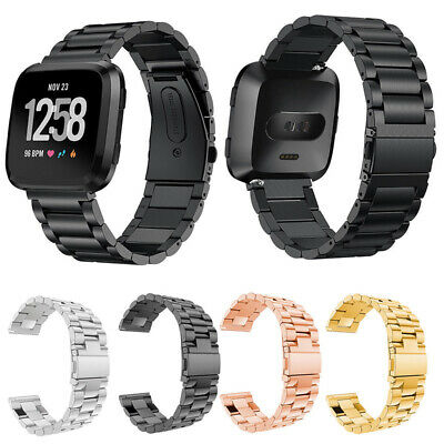 Men's Replacement Metal Stainless Steel Solid Watch Band Strap For Fitbit Versa