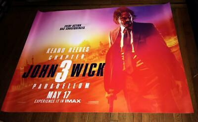 John Wick 3 Parabellum Keanu Reeves 5Ft Subway Movie Poster 2019