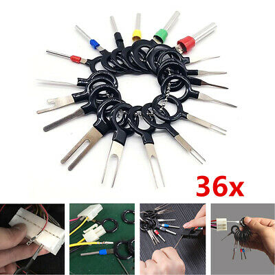 36Pcs/set Car Terminal Removal Tool Wire Plug Connector Extractor Puller Pins