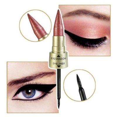 2 in 1 Shimmer Eyeshadow Black Eyeliner Pen Liquid Women Makeup Pencil