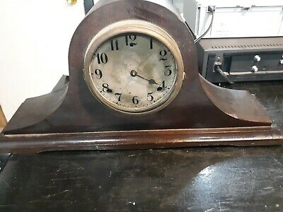 Gilbert Mantle Clock 1920 for Parts or Repair Mechanism Present Antique