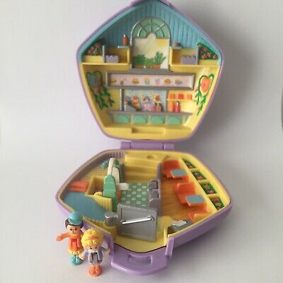 Polly Pocket Fast Food Restaurant With Dolls Bluebird Toys 1992 Vintage