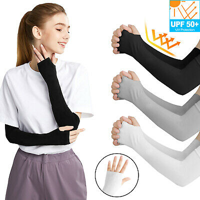 5 Pairs Cooling Arm Sleeves Cover UV Sun Protection Outdoor Sports For Men Women