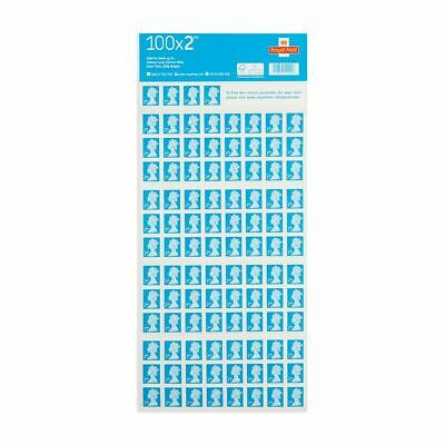 BRAND NEW - 2 Sheets of 100 x 2nd Second Class Stamps Self Adhesive RRP £122.00