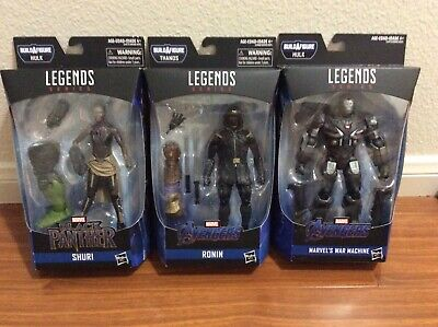 Marvel Legends Avengers Shuri, Ronin, War Machine 3lot