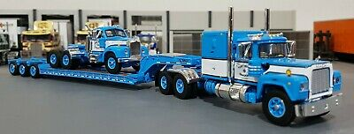 1/64 Mack R-Model & B-Model And Heavy Haul Trailer Diecast Made By First Gear B