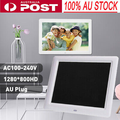 "12"" 1280*800HD Digital Photo Picture Frame Alarm Clock Player Album AU Plug"