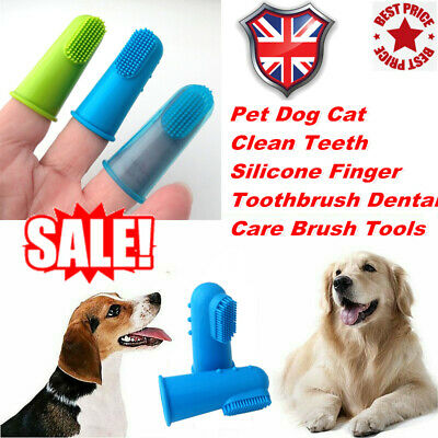 2pcs Soft Finger Toothbrush Pet Dog Dental Cleaning Brush Pets Cat  #O