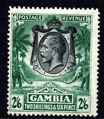 Gambia 2/6 Stamp c1922-29 Mounted Mint (light gum tone as usual)