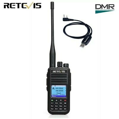 Retevis RT3S Dual Band DMR  3000CH Radio+USB Cable, like TYT MD-380