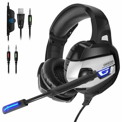 ONIKUMA K5 Gaming Headset Microphone LED Stereo 7.1 Sound for PC Laptop PS4 Xbox