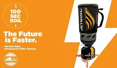 Carbon Black Jetboil Flash Cooking System Camping Tent Stove Gas Cooker Free Gas
