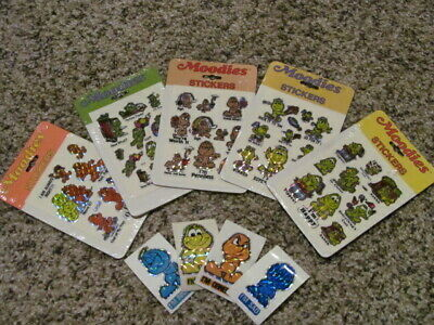 5 Moodies Vintage Stickers Packs Prism Kent Toys 80'S Nip & 4 Mods Lot Worried