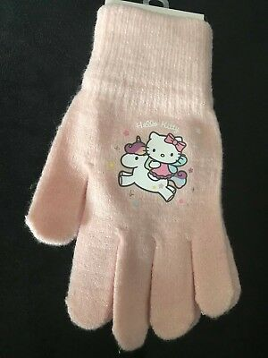 Hello Kitty pink sparkle gloves H&M NEW 4-8 YEARS