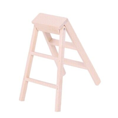 1:12 Dollhouse Miniature Furniture Wooden Ladder Y3W7