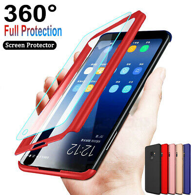 For Samsung Galaxy S10/S10e/S10 Plus 360°Slim Shockproof Case + Screen Protector