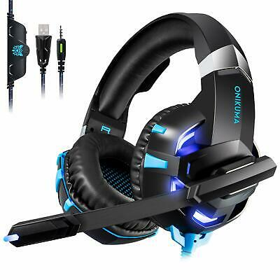 ONIKUMA K2 Gaming Headset Microphone LED Stereo 7.1 Sound for PC Laptop PS4 Xbox