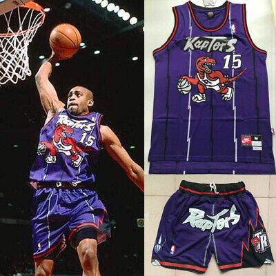 Raptors #15 Vince Carter Jersey Maille Sports T-Shirts Uniforme de basket-ball