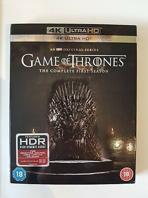 Game Of Thrones The Complete First Season 4K Uhd Ultra Hd Blu-Ray, Series 1 One