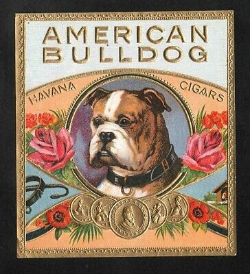 Vitola, original outer cigar label. American Bull Dog.