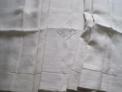 Vintage French Pure Linen Sheet, Lovely Bedding Or Curtain Fabric