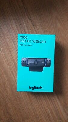 Logitech, C920 HD Pro Webcam for AMZ, Full HD 1080p Video Calling and Recording,