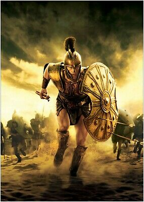 Troy Brad Pitt Classic Movie Large Poster or Canvas Art Print Maxi A1 A2 A3 A4
