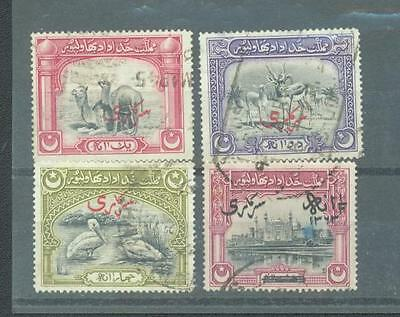 Bahawalpur 1945 officials sg.02-04 & 011 used