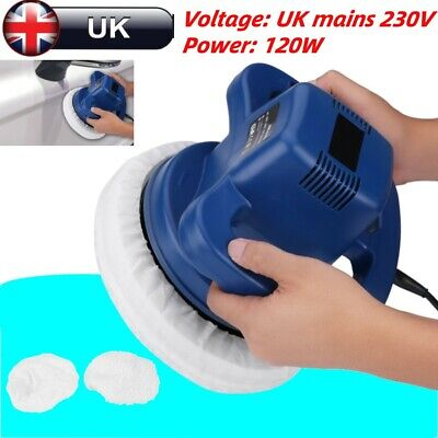 Orbital Electric Car Polisher Buffer Sander Van Polishing 240mm Two Bonnets Blue