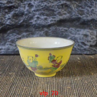 China antique Ming Dynasty Huangdi Fighting colours Baby lines Tea cup