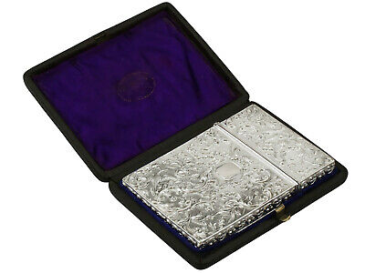 Antique William IV Sterling Silver Card Case
