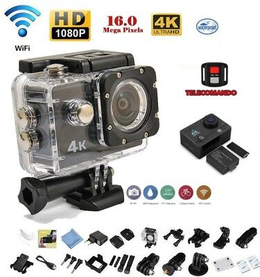 Pro Cam Sport Action Con Telecomando Camera 4K Wifi Ultra Hd 16Mp Videocamera